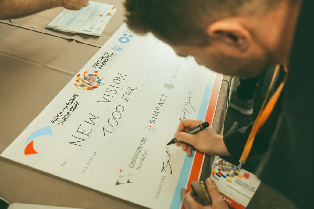 Festival of innovation - winners cheque award