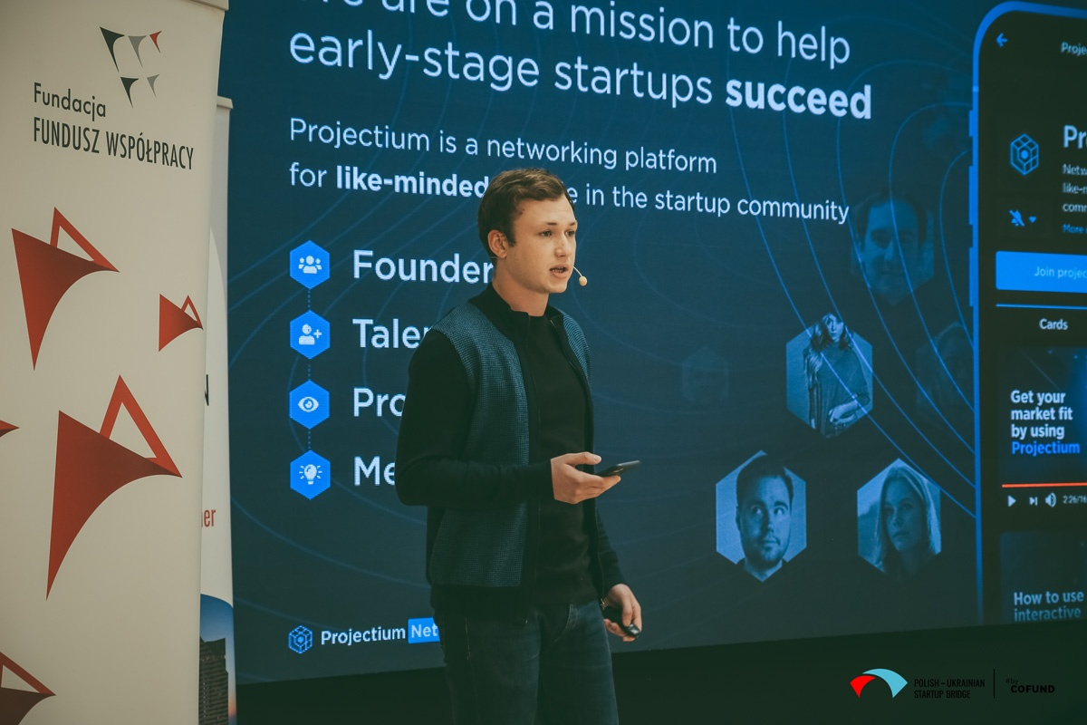 Kyiv Tech Hub 2020 startup contest - Projectium.Network pitch