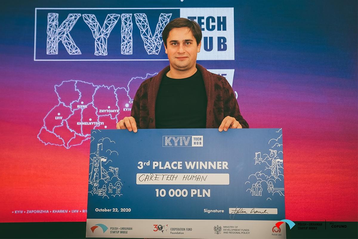 Kyiv Tech Hub third place winner - Caretech Human